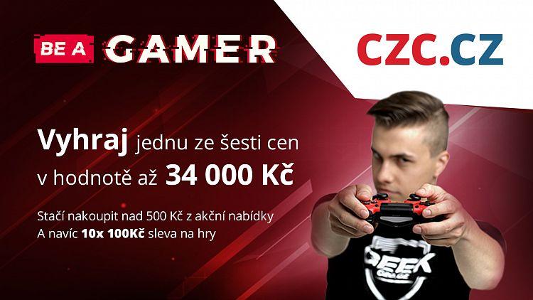 Vyhrajte herní ceny za desítky tisíc a ušetřete na hrách a hardwaru vrámci Be a Gamer na CZC.cz