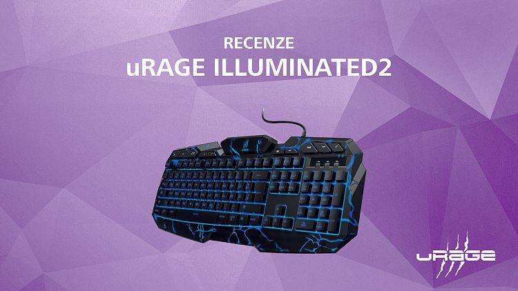 Klávesnice uRage illuminated2 potěší hráče i pisatele funkcemi za rozumnou cenu