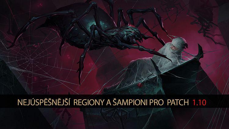 Nejúspěšnější regiony a šampioni pro patch 1.10