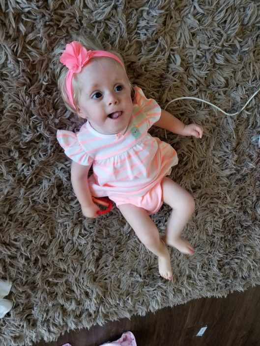 Super Chloe in a pink bow