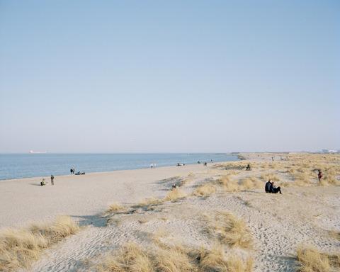 Desolate looking beach in Copenhagen
