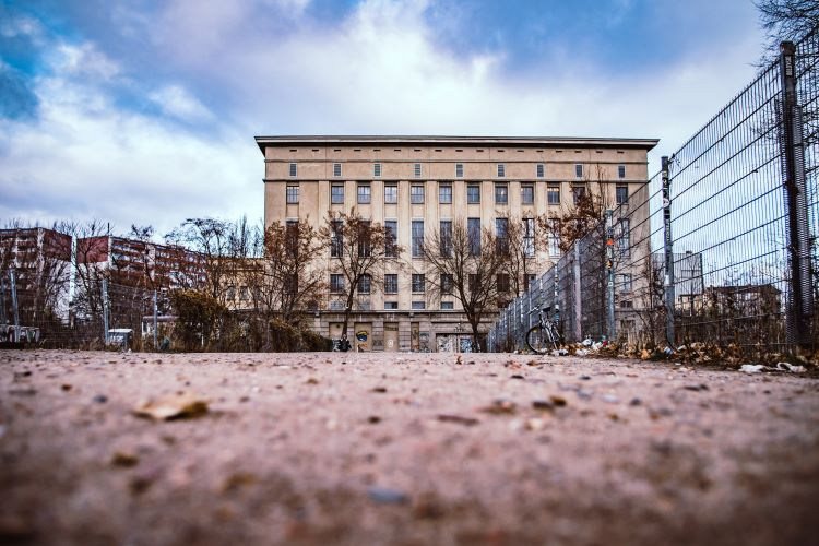 Entrance to Berlin's Berghain Club looming in the distance