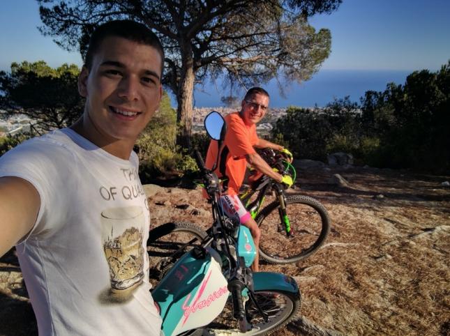 Xavier enjoying a bike route in Premià de Dalt near Barcelona.