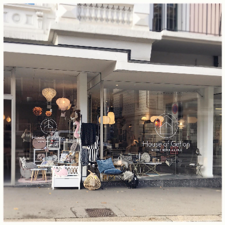 House of Gefion storefront filled with Nordic furniture
