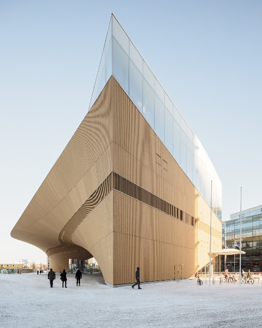Striking exterior of Oodi – Helsinki's new central library