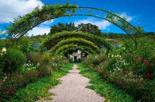 Flower garden in Fondation Claude Monet, Giverny, France