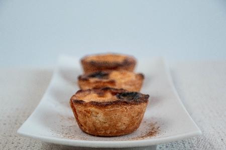 Famous Portuguese Pastel de Nata (Custard Tart) pastries