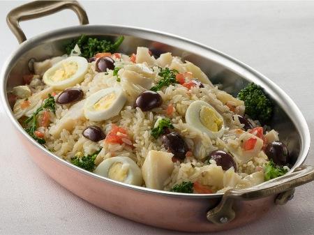 Portuguese Arroz de Bacalhau (Cod with Rice) dish
