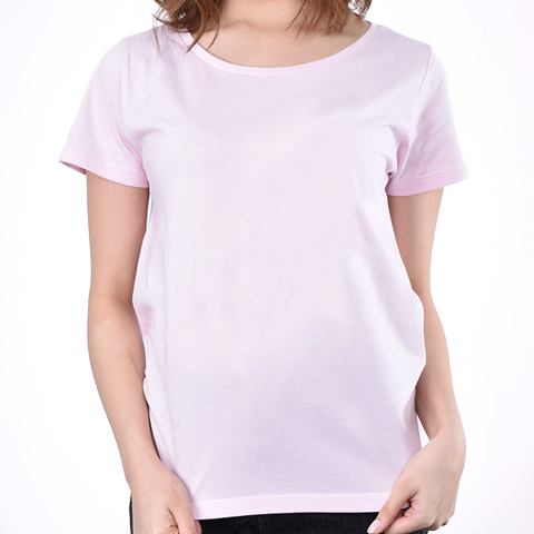 身長156cm (WMサイズ) 4.6oz Fine Fit Ladies Tshirts(DALUC)