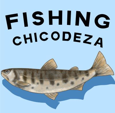 チコデザの釣りと魚のTシャツ