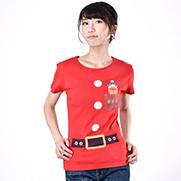 アイアムサンタポケット 6.2オンス CVC フライス Tシャツ