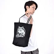 柴犬 - 白 配色トートバッグ  Mサイズ