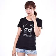 M.C.R.N 6.2オンス CVC フライス Tシャツ