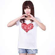 LOVE is blind. 4.6oz Fine Fit Ladies Tshirts(DALUC)