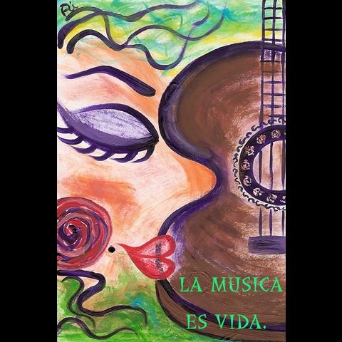 La musica es vida.(ホワイト)