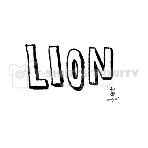 LION+typography