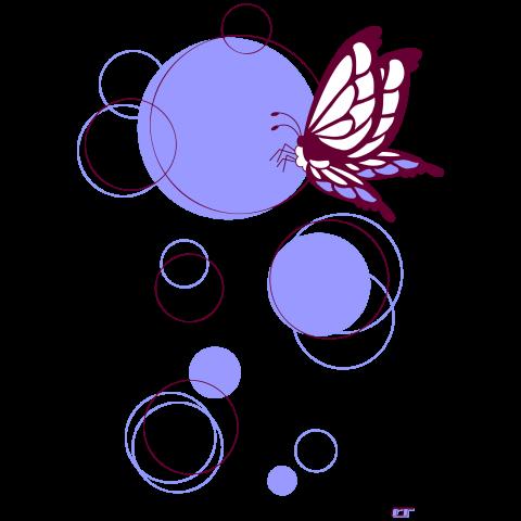 蝶 [パープル]