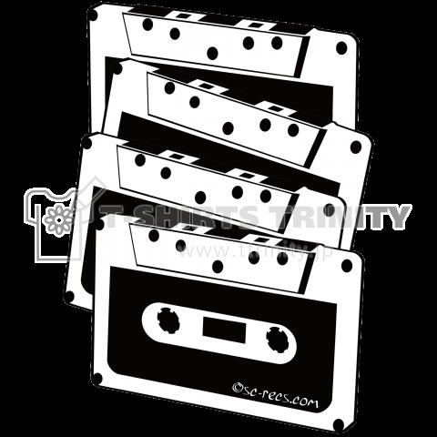 カセットテープ Cassette Tape ×4 ブラック