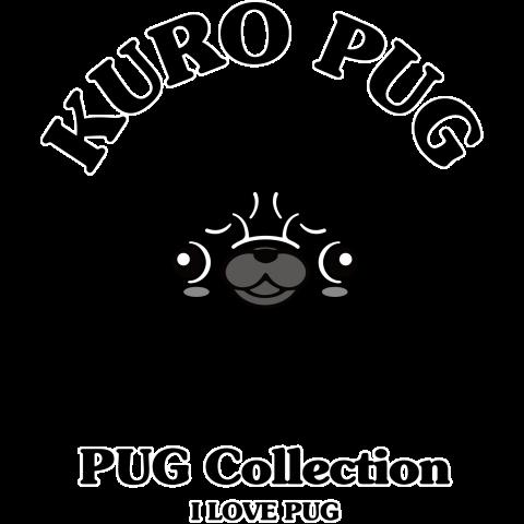 パグコレパグコレクション黒パグデザインtシャツ通販tシャツ