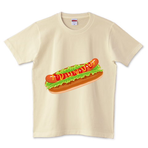 Hot dog 5.0オンスTシャツ (United Athle)