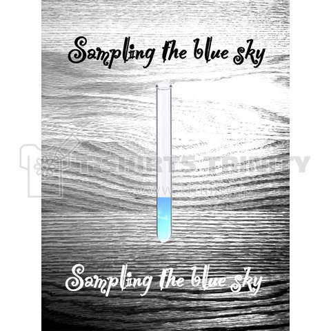 Sampling the blue sky (青空を採取)