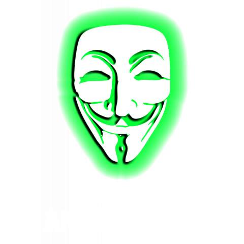 WE ARE ANONYMOUS. (GREEN)