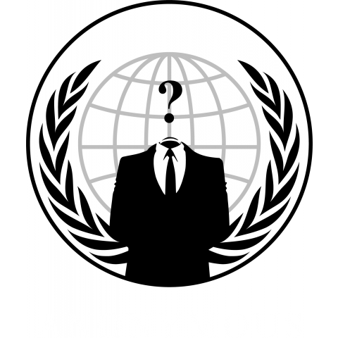 ANONYMOUS ? logo (black・濃色)