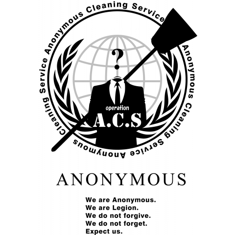 Anonymous Cleaning Service @op.A.C.S - アノニマス クリーニング サービス #opACS 淡色