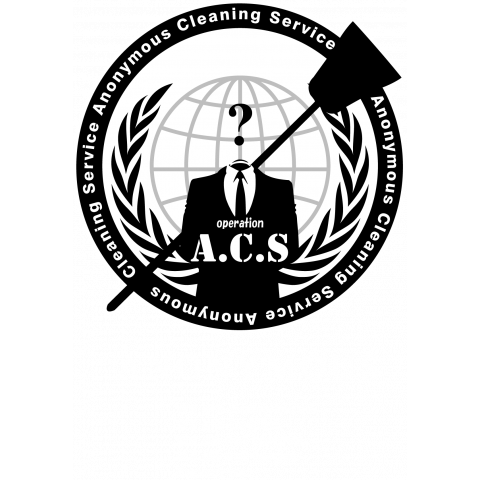 Anonymous Cleaning Service @op.A.C.S - アノニマス クリーニング サービス #opACS 濃色
