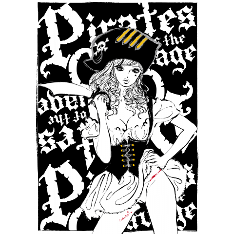 PIRATES OF THE CLEAVAGE 女海賊 ガールズイラスト