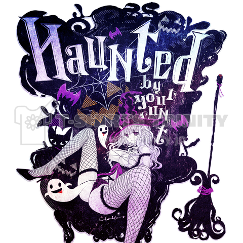 HAUNTED ハロウィンおばけと魔女の黒椅子