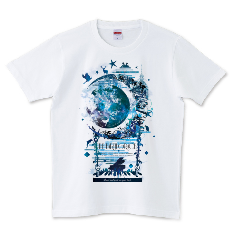 THE EARTH GRACE [黒文字ver] 5.0オンスTシャツ (United Athle)