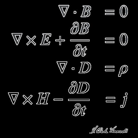 数式Tシャツ:マクスウェルの方程...