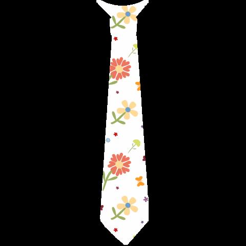 ネクタイ 花柄