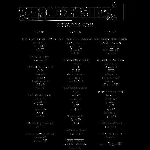 【VRF'11】 公式Tシャツ<1> WHITE 【両面プリント】