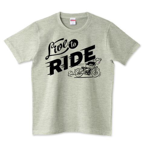 LIVE TO RIDE 5.0オンスTシャツ (United Athle)