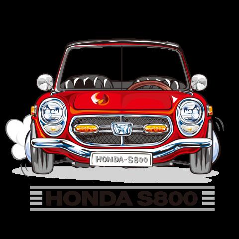 HONDA S800 レッド