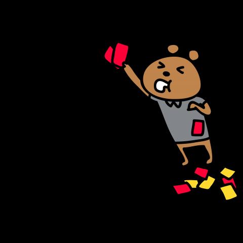 サッカー クマ審判のカード