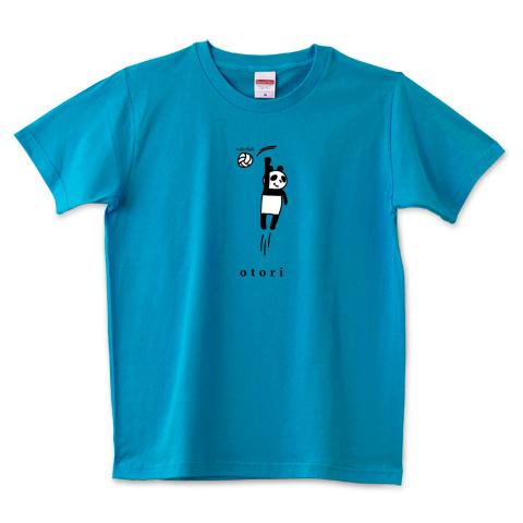 バレーボール おとりのパンダ 5.0オンスTシャツ (United Athle)