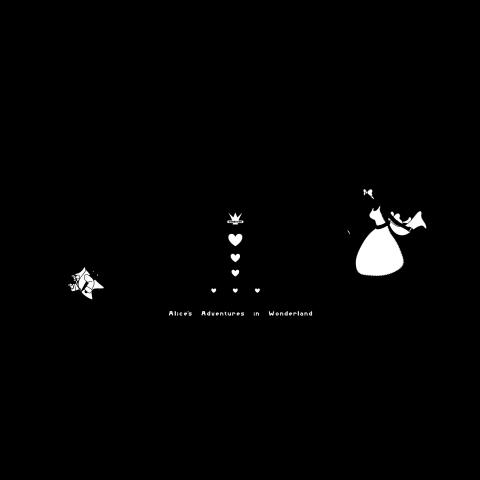 不思議の国のアリスシルエットアリスとウサギデザインtシャツ通販
