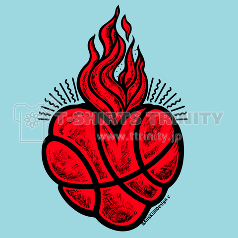 BBall Heart - red/blue