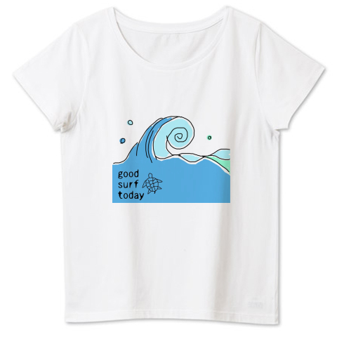 good surf today 4.6oz Fine Fit Ladies Tshirts(DALUC)