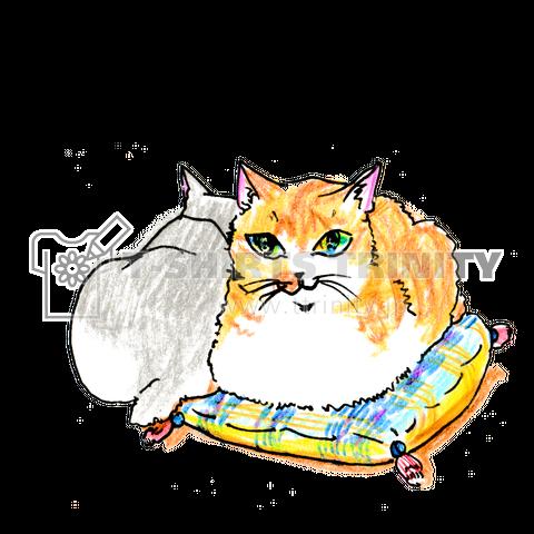 香箱座りの猫ちゃん-猫竹