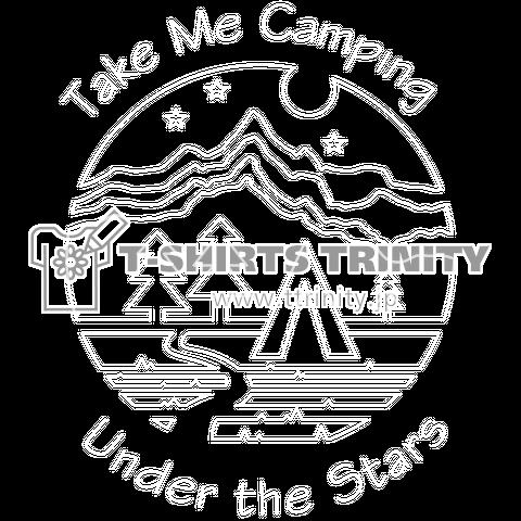 星空の下でキャンプ - 白