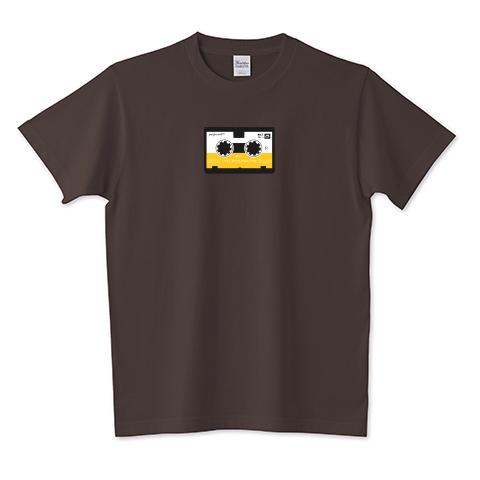 マイクロカセット(黄) 5.6オンスTシャツ (Printstar)
