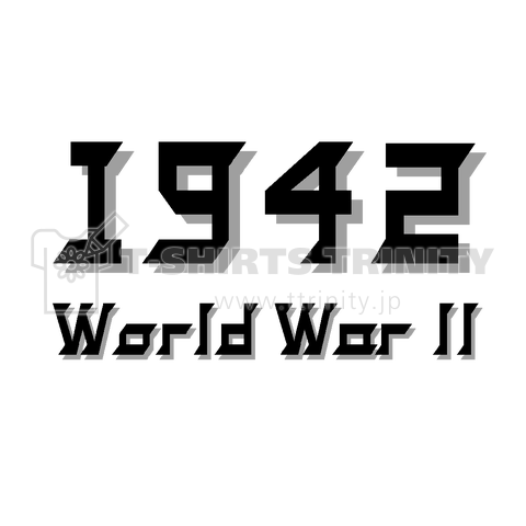 『1942 第二次世界大戦 ミリタリー 大日本帝国』Tシャツ