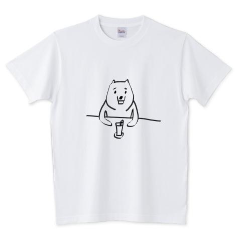 ファミレスのクマ 5.6オンスTシャツ (Printstar)