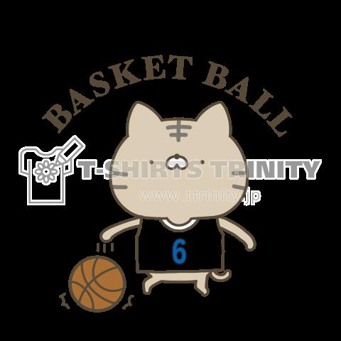バスケットボールネコ(数字変更・カスタマイズできます)