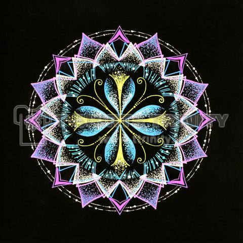 静謐-点描曼荼羅