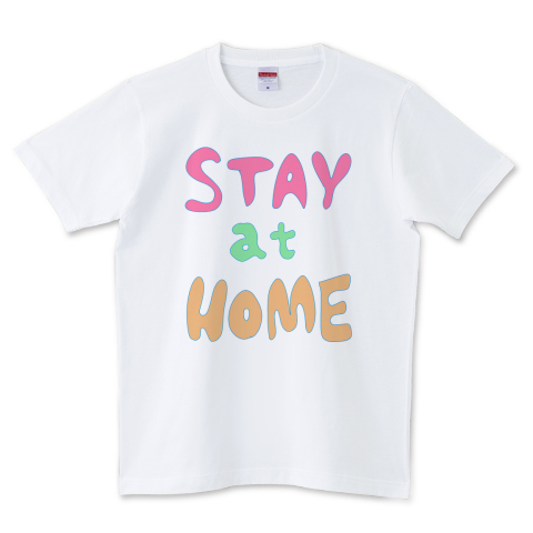 STAY AT HOME 5.0オンスTシャツ (United Athle)